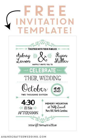 Best Free invitation templates ideas on Pinterest