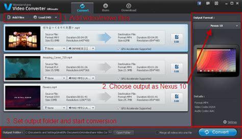 Best Nexus 10 Video Converter,Play Any Video on Nexus 10 ...
