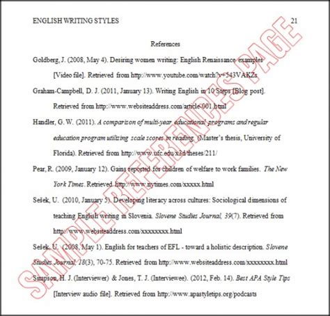 Best Photos of APA Format Example Reference   Essay ...