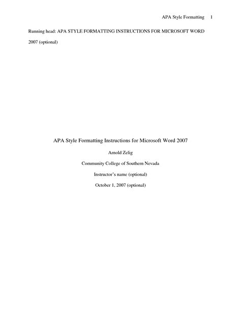 Best Photos of APA Style Cover Page - APA Format Cover ...