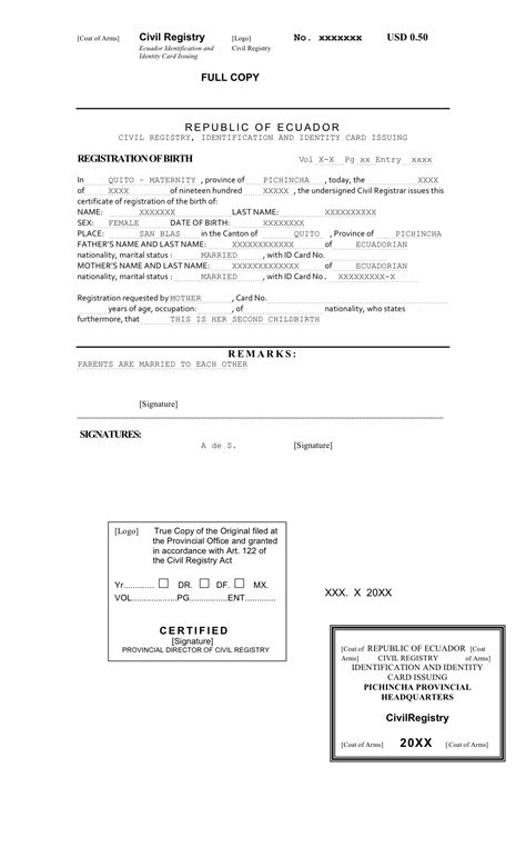 Best Photos of Birth Certificate Translated Into English ...