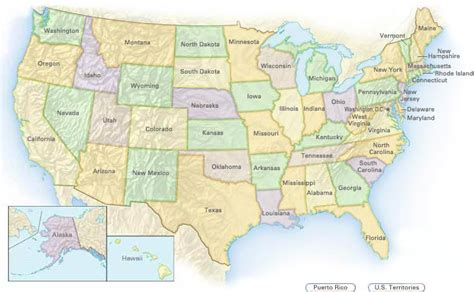 Best Photos of Content Map US   The 50 States Map with the ...