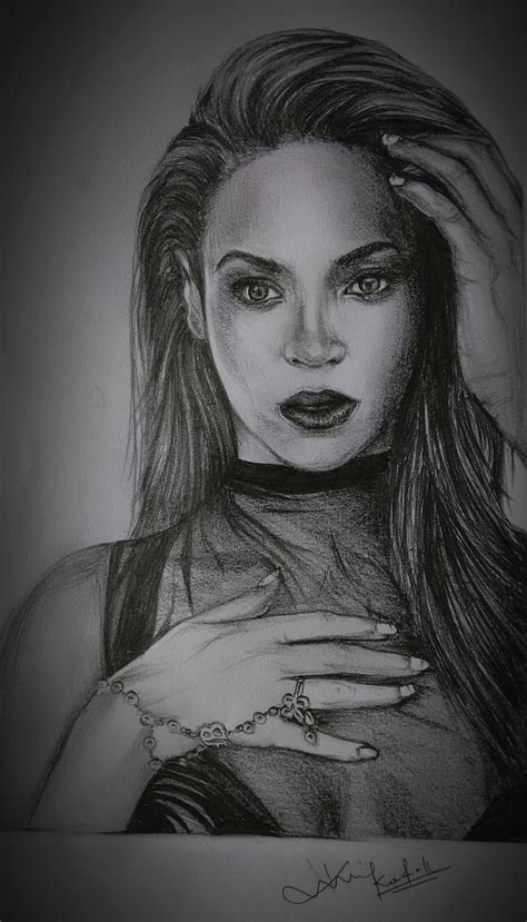 Beyonce Pencil Drawing | www.pixshark.com - Images ...