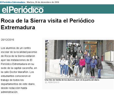 BiblioRoca: Visita al Periódico de Extremadura