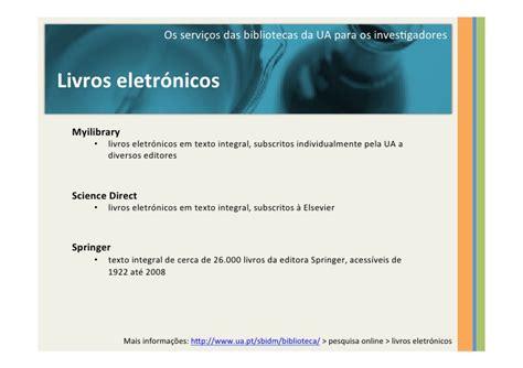 Bibliotecas ua serviços