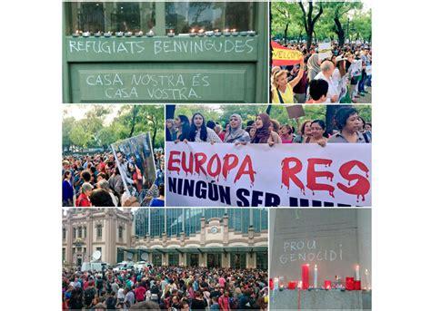 Bienvenidos, refugiados: manifestaciones solidarias y ...
