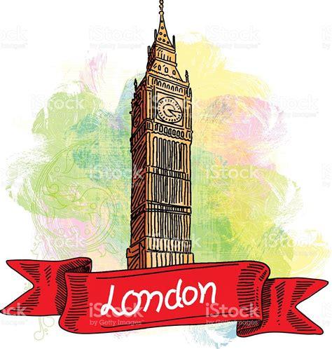 Big Ben Tower Londres El Dibujo Illustracion Libre de ...