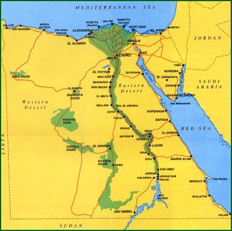 BilingüeSauces 1º ESO: Egypt geography