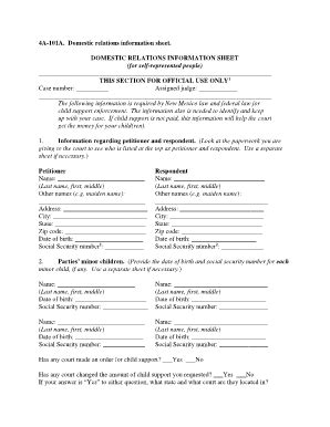 Bill Of Sale Form New Mexico Domestic Relations ...
