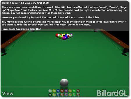 BillardGL, juega al billar desde tu PC   Gizmos