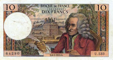 Billet de 10 francs Voltaire — Wikipédia