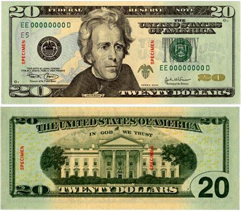 Billete de veinte dolares