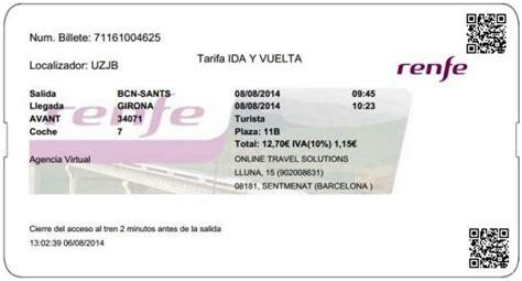 BILLETES AVE BARCELONA GIRONA precios desde 11,25