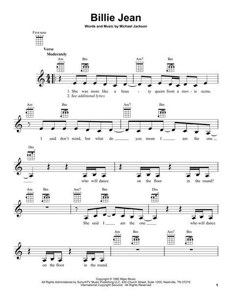 Billie Jean by Michael Jackson   Ukulele   Guitar Instructor