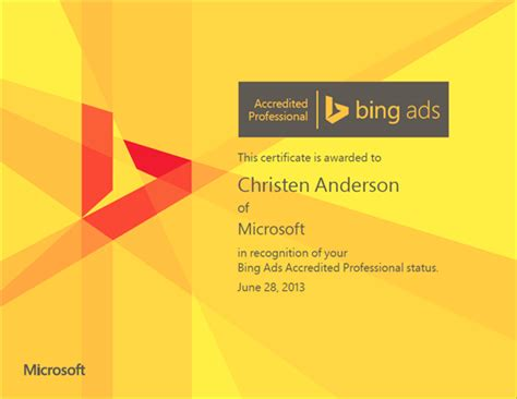 Bing Ads Accredited? Get Updated Badges And Certificates