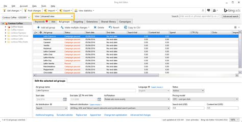 Bing Ads Editor 11.0: Multi account management support ...