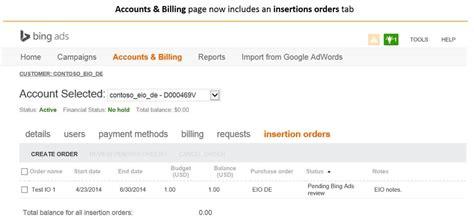 Bing Ads Puts Insertion Order Management Online