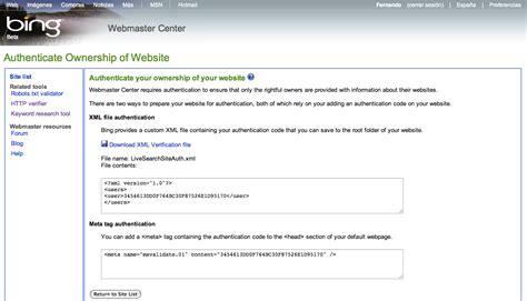 Bing para Webmasters, Bing Webmasters Tools, SEO Bing