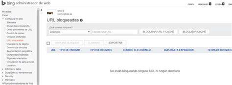 Bing WebMaster Tools herramienta Seo