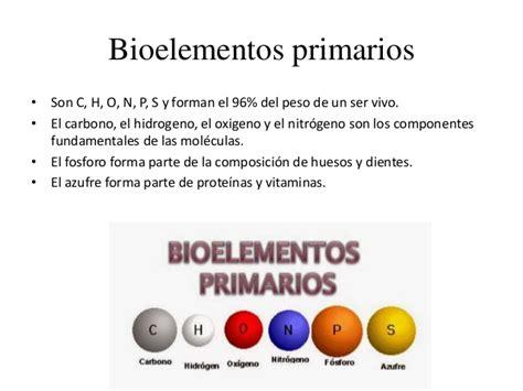 Bioelementos, biomoléculas y salud