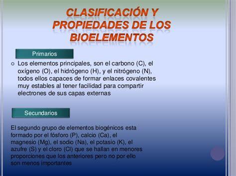 Bioelementos en el cuerpo humano
