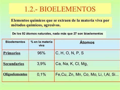 Bioelementos secundarios
