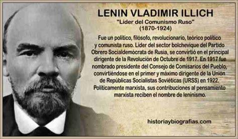 Biografía de Lenin Lider Revolucion Rusa Causas de su Muerte