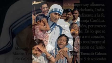 BIOGRAFIA DE MADRE TERESA DE CALCUTA - YouTube