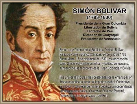 Biografía de Simón Bolívar Creación de la Gran Colombia ...