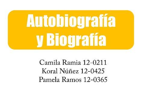 Biografía y Autobiografia