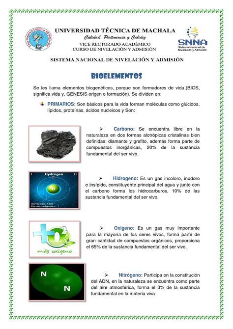 Biolelementos by Cinthia Ramirez - Issuu