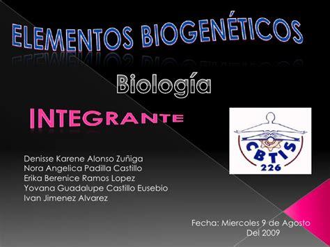 Biologia Elementos Biogenicos