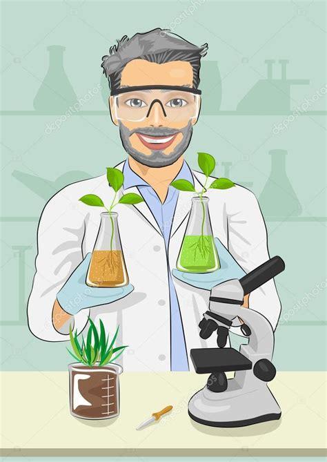 Biólogo de homem maduro com óculos protetores, segurando ...
