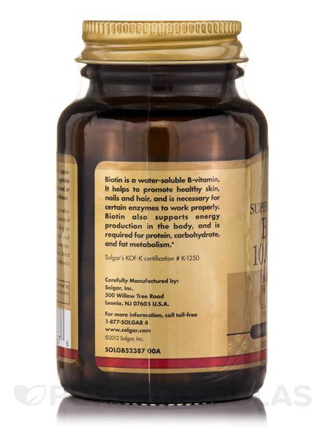 Biotin 10000 mcg - 60 Vegetable Capsules