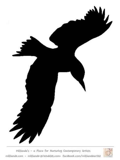 Bird Silhouette Stencil Template Crow at www.milliande ...
