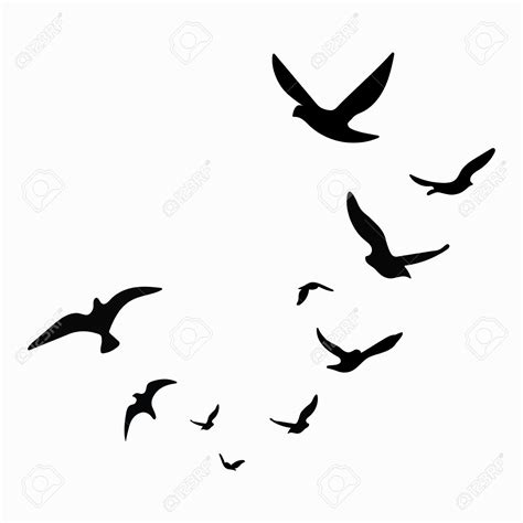 Birds Silhouette at GetDrawings.com | Free for personal ...