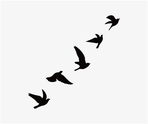 Birds Silhouette Pull Material Decorative Patterns Free ...