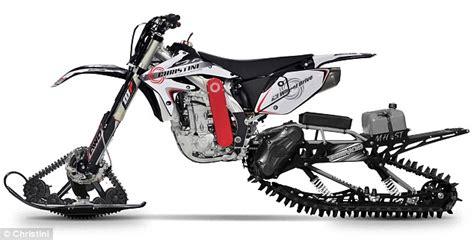 Bizarre bike has skis and tank tracks to ride across ...