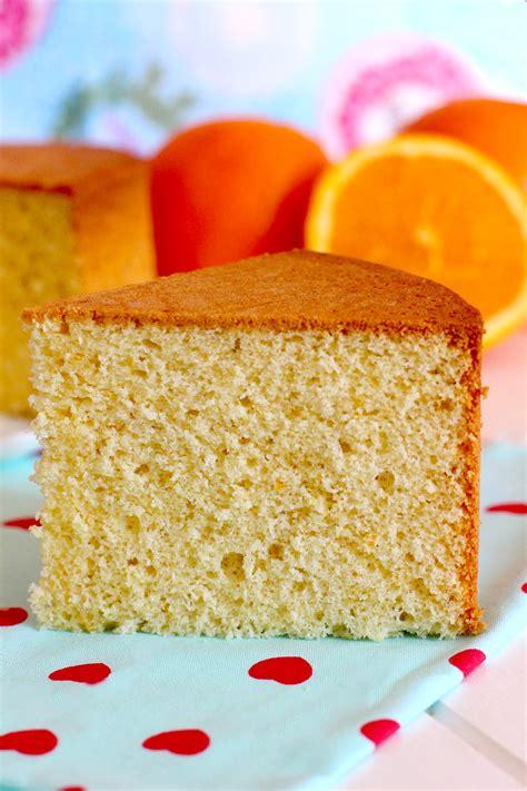 Bizcocho de naranja esponjoso   Recetas de bizcochos