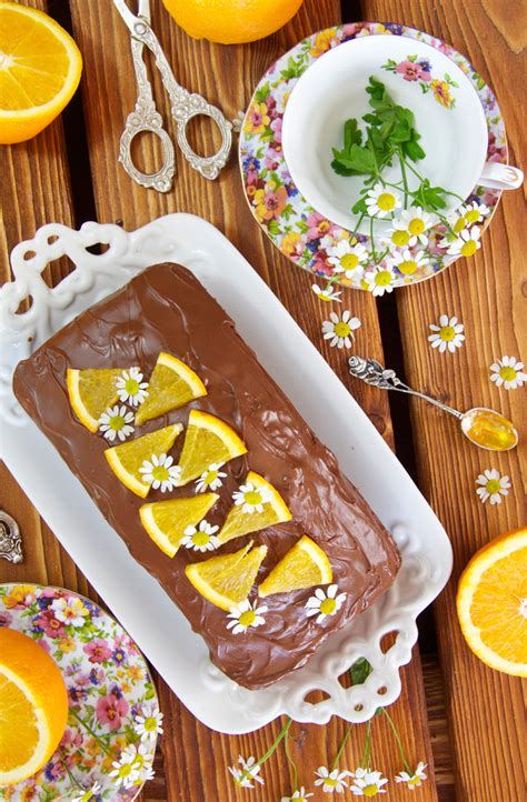 Bizcocho de naranja y chocolate   Dulce sentimiento