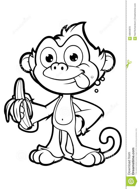 Black And White Cartoon Monkey | www.pixshark.com - Images ...