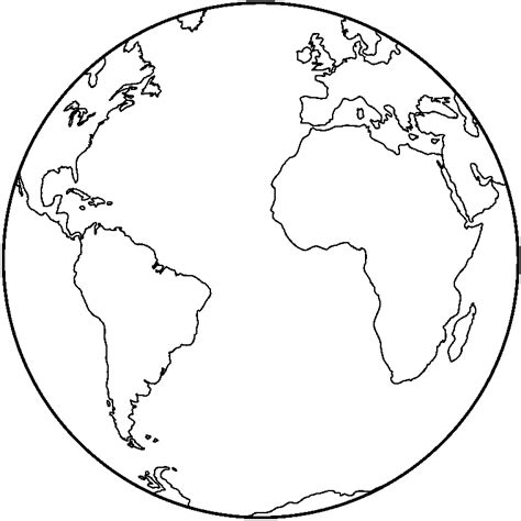 Black And White Globe Clipart - Clipart Suggest