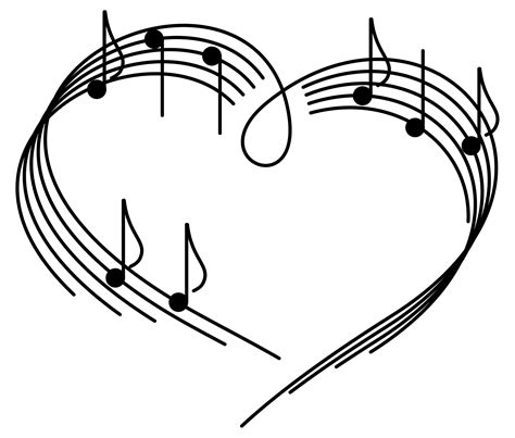 black and white music notes wallpaper | music notes heart ...