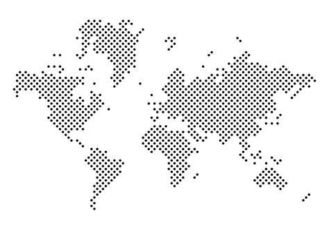 Black Dotted Mapa Mundi Vector - Download Free Vector Art ...