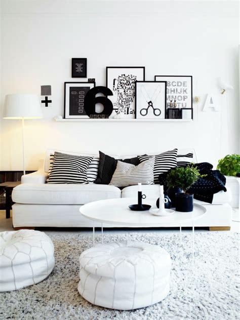 Blanco y negro: 50 ideas para el salón moderno y elegante