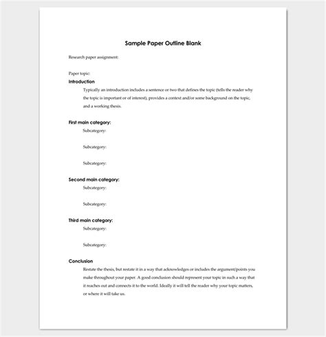 Blank Outline Template For Research Paper | www.imgkid.com ...
