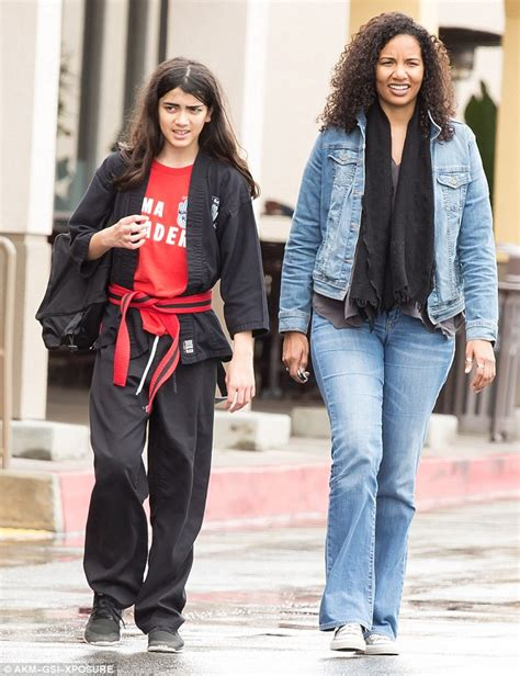 Blanket Jackson continue his discipline in a black karate ...