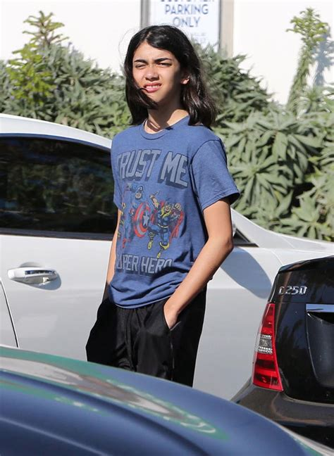 Blanket Jackson looks unrecognisable as he sports long ...