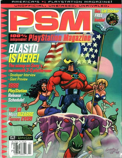 Blasto strikes a heroic pose on this magazine cover : psx