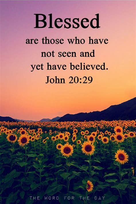 Blessed Are Those Who Have Not Seen And Yet Have Believed ...